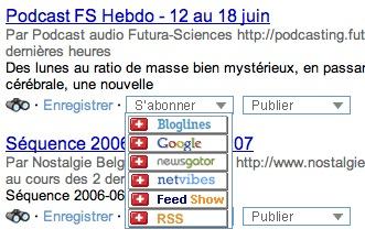 Obtenir le flux RSS de ses résultats de recherche