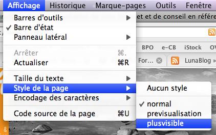 changement de style dans Firefox