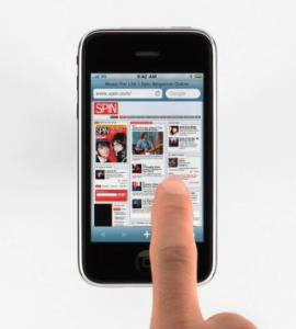 la navigateur safari mobile sur iphone
