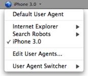 Extension User Agent Switcher 0.7.2 pour navigateur Firefox