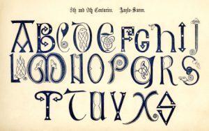 Table de typographie du 9ème siècle