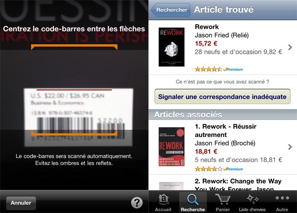 Capture application m-commerce Amazon