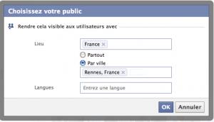 Géolocaliser le contenu d'une page Facebook