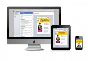 Newsletter Harmonie en responsive webdesign ou web adaptatif multi-plateformes