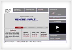 Maquettage de la mise en page du site Verlingue.fr