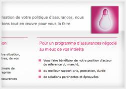 Capture d'écran de la charte graphique du site Verlingue.fr