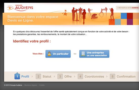 Audiens - Mon devis santé en ligne