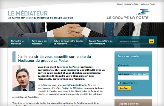 Médiateur du Groupe La Poste
