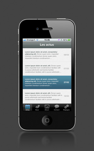 Rocket, application iPhone par LunaWeb