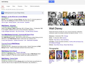 Recherche affinée sur le personnage Walt Disney