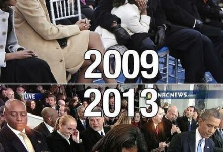 Les deux investitures d'Obama... Vous remarquez les différences ?