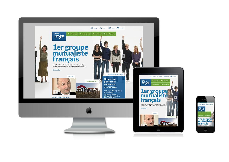 Le site du Groupe Istya en Responsive Design
