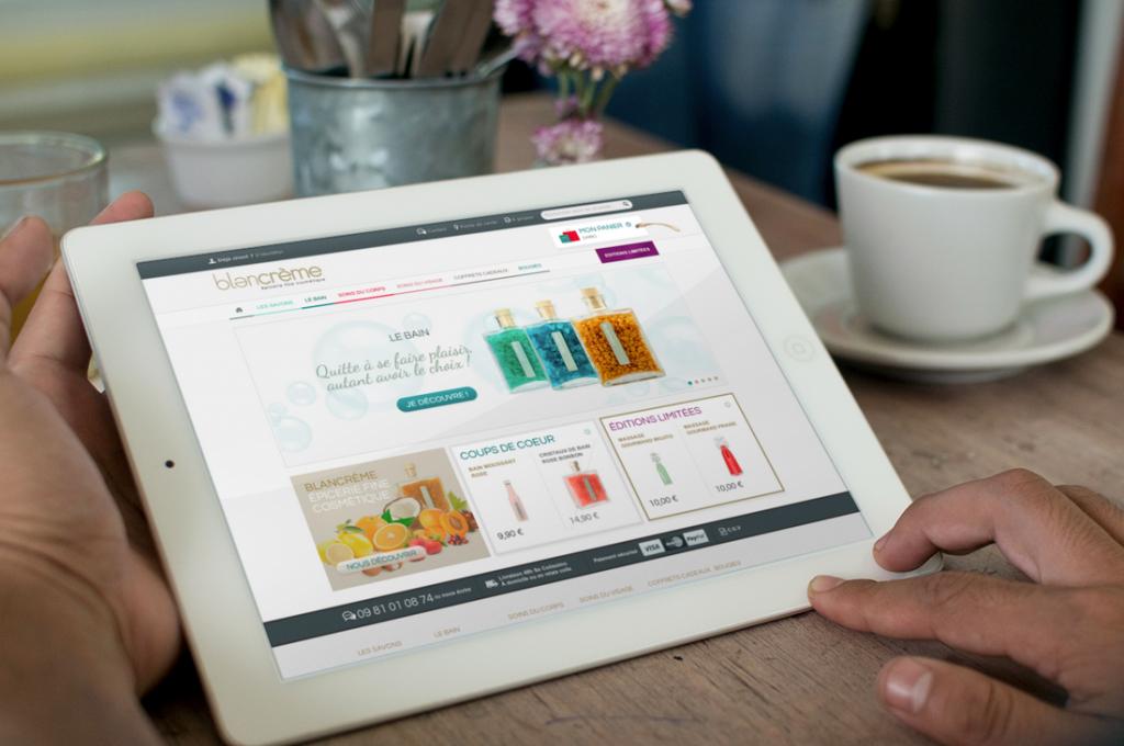Blancrème propose aussi un site d'e-commerce