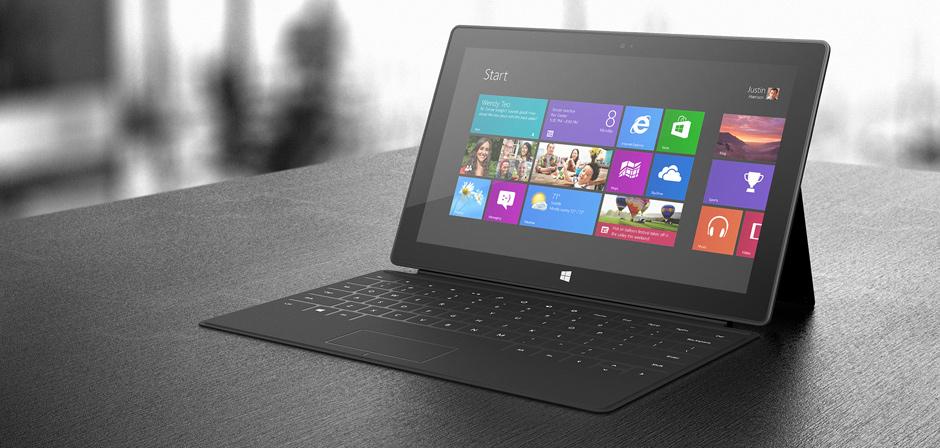 Exemple de flat design : le système d'exploitation Windows 8
