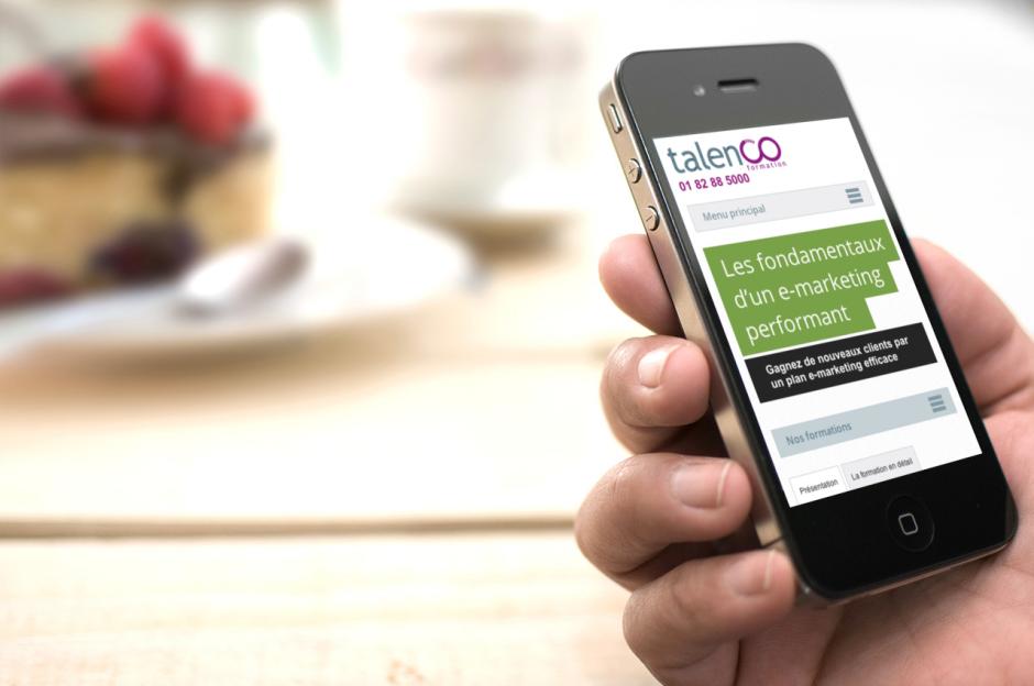 Talenco site Responsive Web Design
