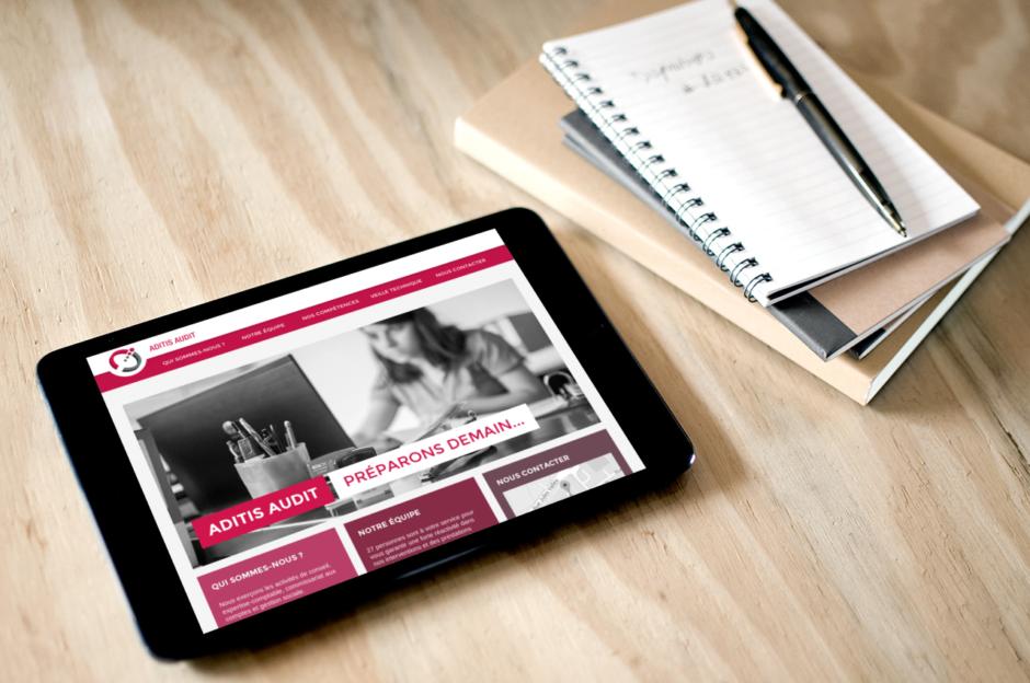 Site Aditis conçu en responsive Design par LunaWeb
