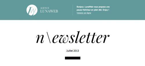Newsletter LunaWeb de juillet 2013
