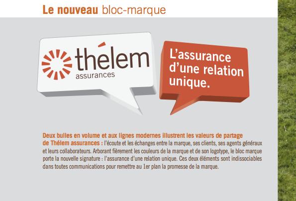 Le nouveau bloc marque de Thélem assurances
