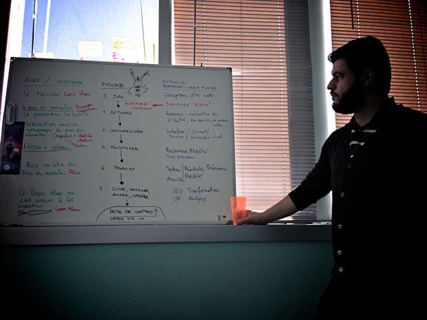 Phase de conception des contenus web lors du prototypage chez lunaweb