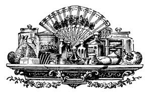 Un étal de parfum en gravure