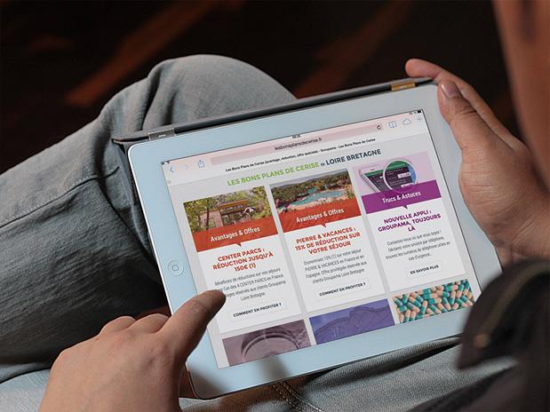 L'interface du site responsive Groupama Les Bons Plans de Cerise