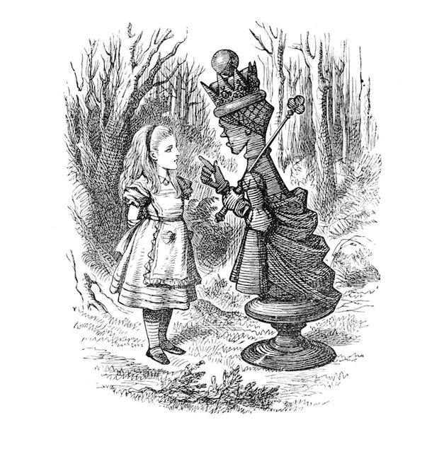 Illustration, Alice parlant au roi