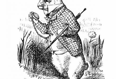 Le lapin blanc d'Alice aux pays des merveilles nous guide vers de nouvelles expériences digitales