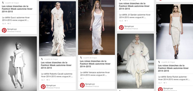 Page Pinterest de la fashion week de Paris