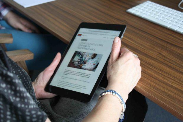 Un test utilisateur sur tablette avec LunaWeb