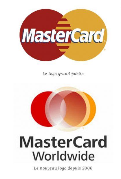 Logo avant et après de la carte Master Card