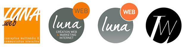 Historique des logos de LunaWeb