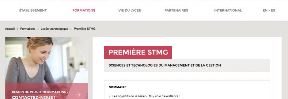 Éléments de navigation du site LJA Rennes
