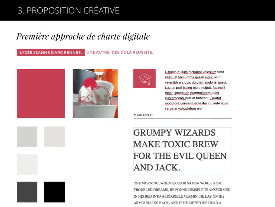 Proposition créative en Flat Design par LunaWeb