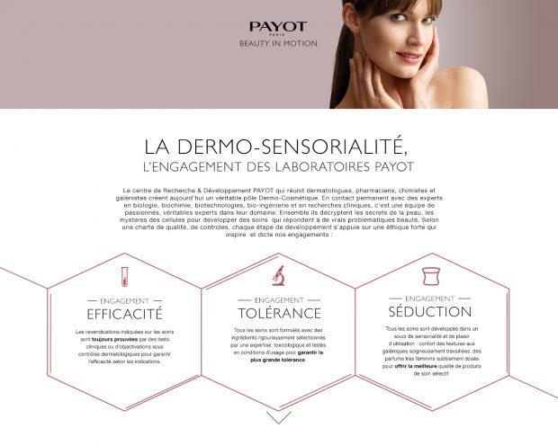 La marque Payot avec l'Agence LunaWeb