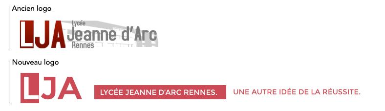 Refonte du logo Lycée Jeann d'Arc opérée par LunaWeb