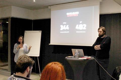 Événement organisé par UX Rennes avec les co-fondateurs Audrey Rivy et Guillaume Genest de l'Agence LunaWeb