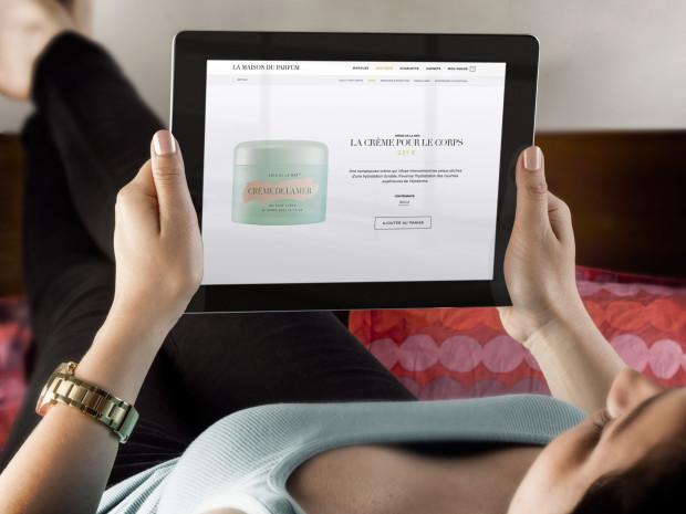 Vue sur tablette de la boutique en ligne La Maison du Parfum