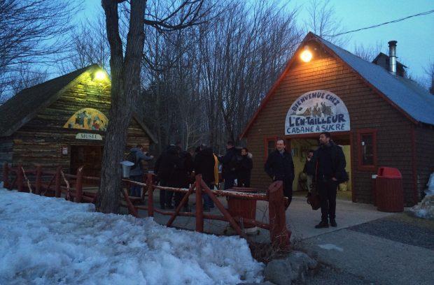 Découverte de cabane à sucre Quebecoise pour Audrey Rivy et l'Agence LunaWeb