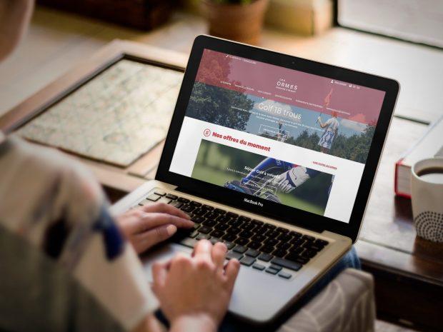 Conception du site Les Ormes par l'Agence LunaWeb
