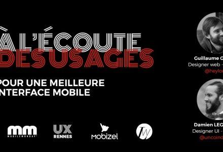 Conférence UX Rennes, Mobizel, LunaWeb de l'UX dans le Mobile