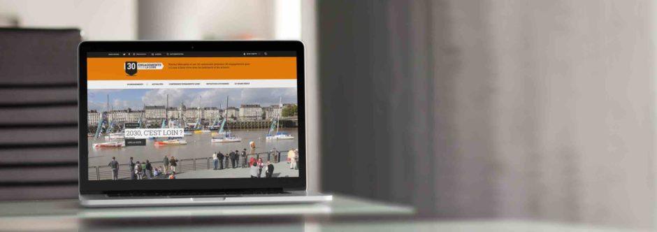 Site internet conçu en responsive design pour Le Grand Débat, 30 engagements pour la Loire par l'Agence LunaWeb à Rennes