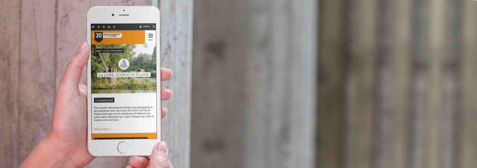 Site mobile conçu en responsive design pour Le Grand Débat, 30 engagements pour la Loire par l'Agence LunaWeb à Rennes