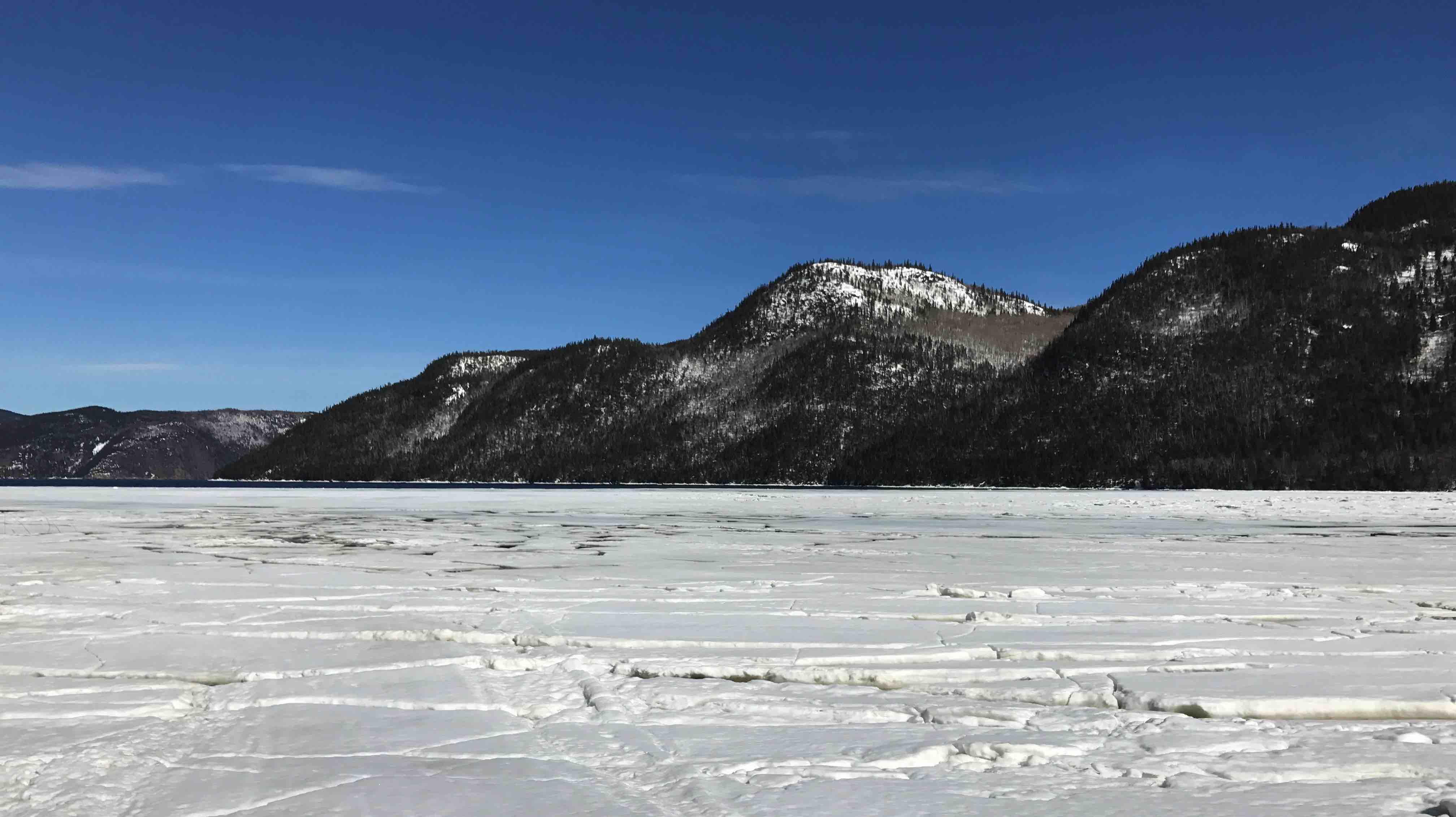 Vue magnifique de la Province de Québec pour le déplacement de l'équipe LunaWeb