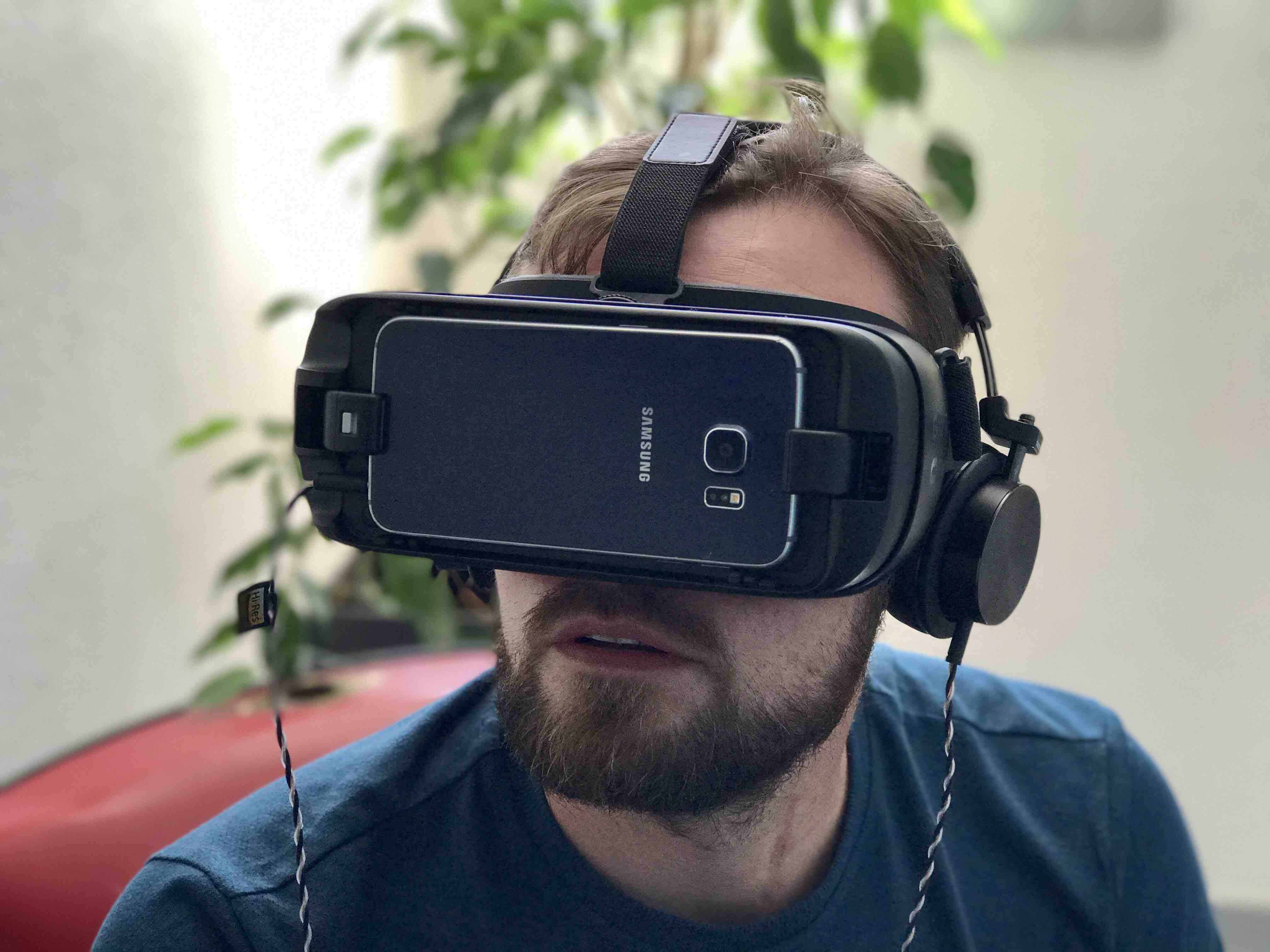 Notre chef de projet Guillaume sur un projet de Virtual Reality