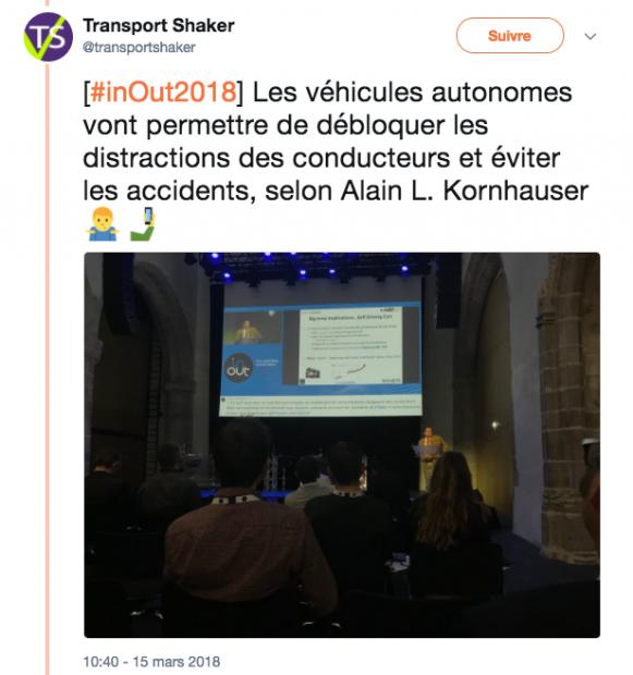 Véhicules autonomes InOut 2018 - lunaweb
