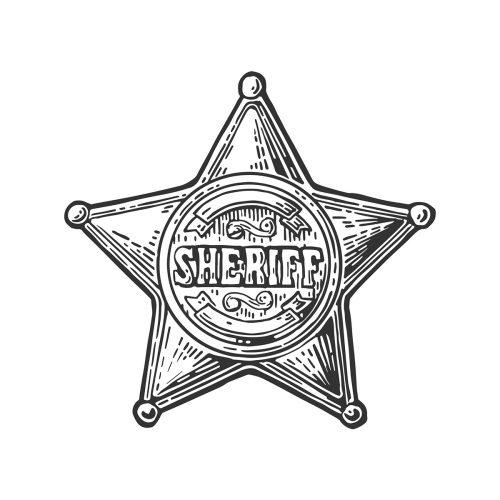 gravure étoile de shérif - lunaweb