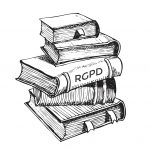 gravure illustrant une pile de livres - mise en application RGPD - LunaWeb