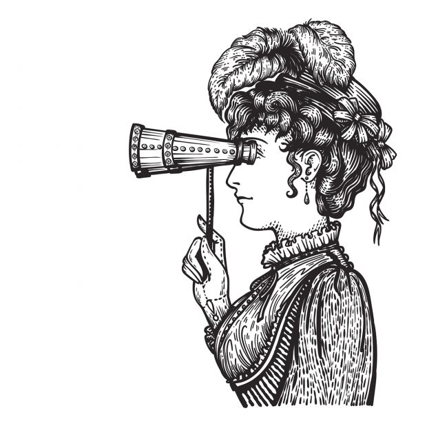gravure d'une femme-lunaweb