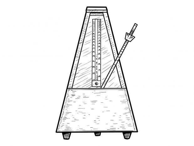 Gravure illustrant un metronome - LunaWeb