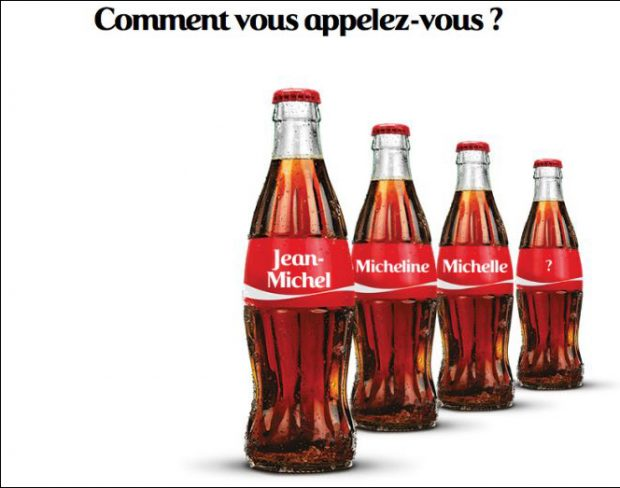 exemple de personnalisation avec la marque Coca-Cola - LunaWeb